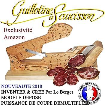 Guillotine a saucisson, Trancheuse La Petite Merveille & Couteau Offert INVENTER & CREE Par Le Berger MODELE DEPOSE PUISSANCE DE COUPE DEMULTIPLIEE