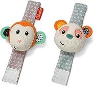 Infantino Wrist Rattles, Monkey and Panda