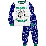 Harry Bear Pijamas de Manga Larga para niños Tiburones Ajuste Ceñido