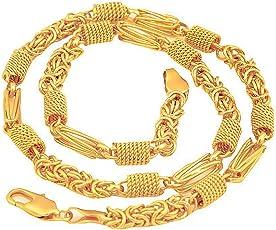 MR_ENTERPRISE Gold Plated Brass Chain for Men (MRE-1)