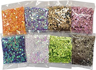 Embroiderymaterial Sequin Sitara for Craft and Embroidery Making Combo Pack 200 Gram(25 Gram Each Color)