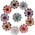 20 Pezzi Yofuly Bottoni a Cupola in Cristallo Dorato, con Diamanti Sintetici Lucenti di Alta Qualità, per Decorare Cappotti e