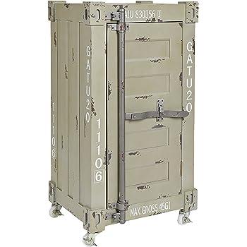 Ts Ideen Design Kommode Schrank Roll Container Shabby Beige Grau