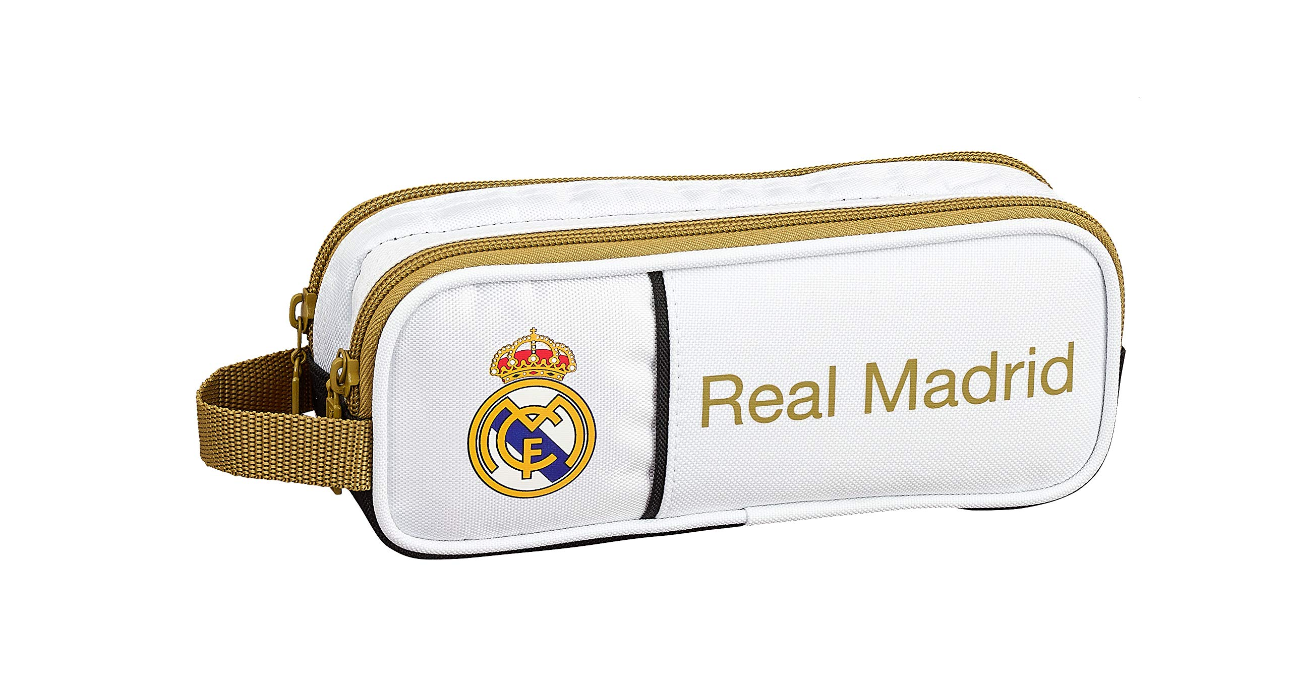 Real Madrid CF 811954513, Real Madrid 19/20 Portatodo Doble para Niños, Varios, 21x8x6cm
