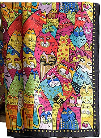 laprée - Sciarpa di Seta 100% Naturale Foulard Donna Scialle Stampa Sciarpa Quadrat 90 * 90 cm Riproduzione del Dipinto