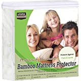 Utopia Bedding Premium Bambusowy Ochraniacz Na Materac 100% Wodoodporny, Pokrowiec Na Materac, Oddychający, Dopasowany Styl D