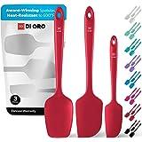 DI ORO® - Lot de spatules en silicone - Cuillère et spatules maryses silicones résistantes à 315 ºC - Design sans coutures -