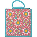 Jute Cottage Jute Bags for Shopping for Women and Men | Jute Grocery Bag | Jute Carry Bag | Jute Bags with zip | Printed Jute