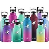 KollyKolla Botella de Agua Acero Inoxidable, Termo Sin BPA Ecológica Reutilizable, Botella Termica con Pajita y Filtro, para
