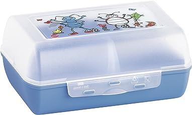 Emsa 513792 Brotdose für Kinder, Herausnehmbare Trennwand, Ameisenmotiv, Blau