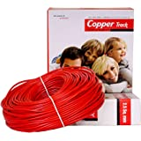 Absolute Copper Track 2.5sq mm Copper Wire PVC Insulated Single Core(90m Coil/Roll,Red Color) Pack of 01.