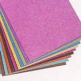 inherited 10 pièces Paillette Autocollant, Glitter Papier avec 10 Couleurs Vives, Papier Glitter Brillant Coloré Bling pour S