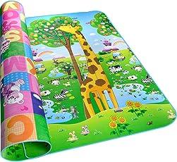 HBF Tappeto Bambini Double Face Gioco Bambino 200 x 180 cm Tappetino per Bambini EVA Impermeabile