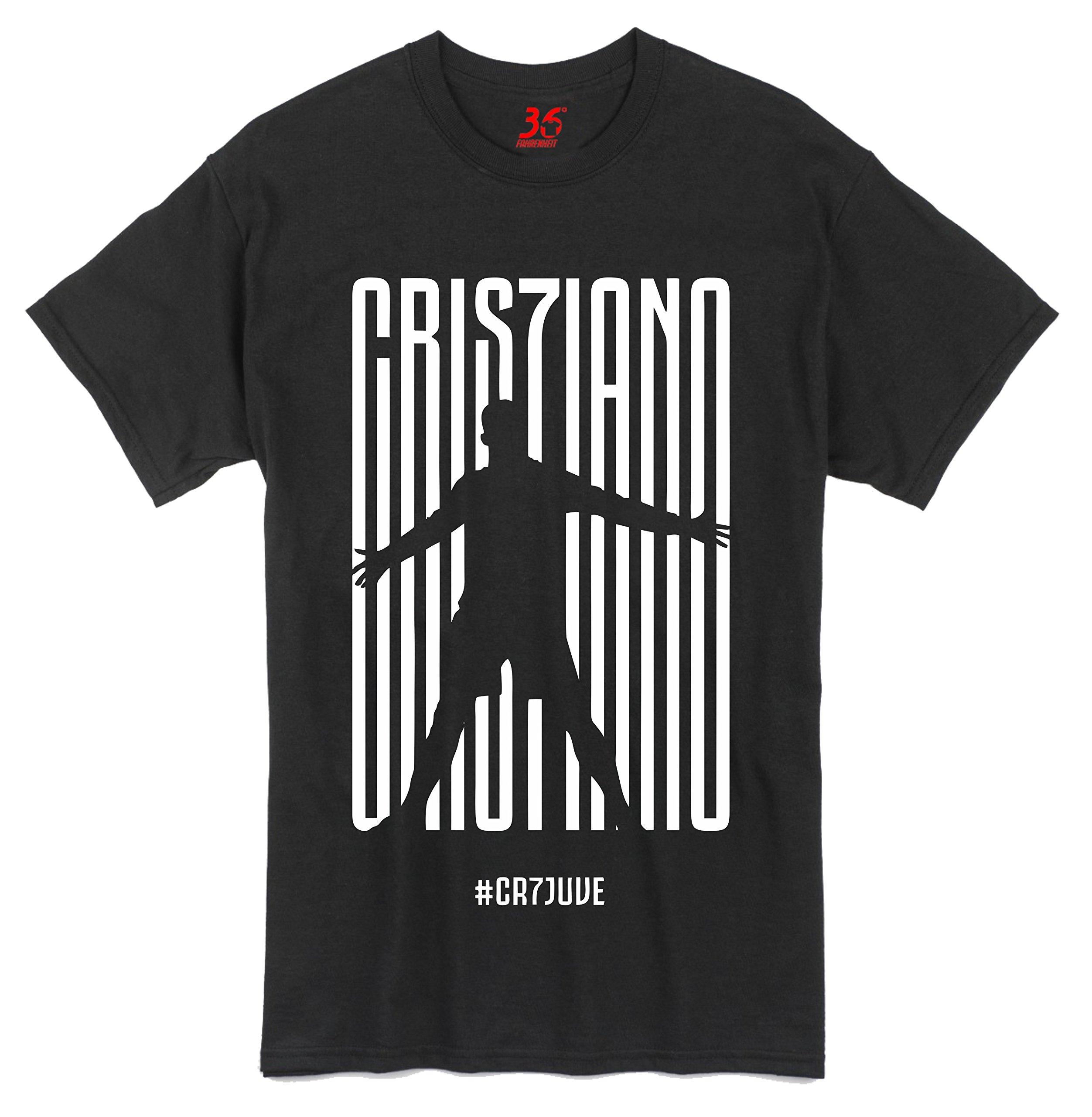 low priced 2706a 19d3d 36FAHRENHEIT Unisex Cotton Cristiano Ronaldo CR7 Juve Juventus T-Shirt