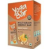 Yogabar Cashew Orange Multigrain-Energy Bars - Pack of 10, Healthy Diet Snacks with Dates, Oats and Millets, Gluten Free…