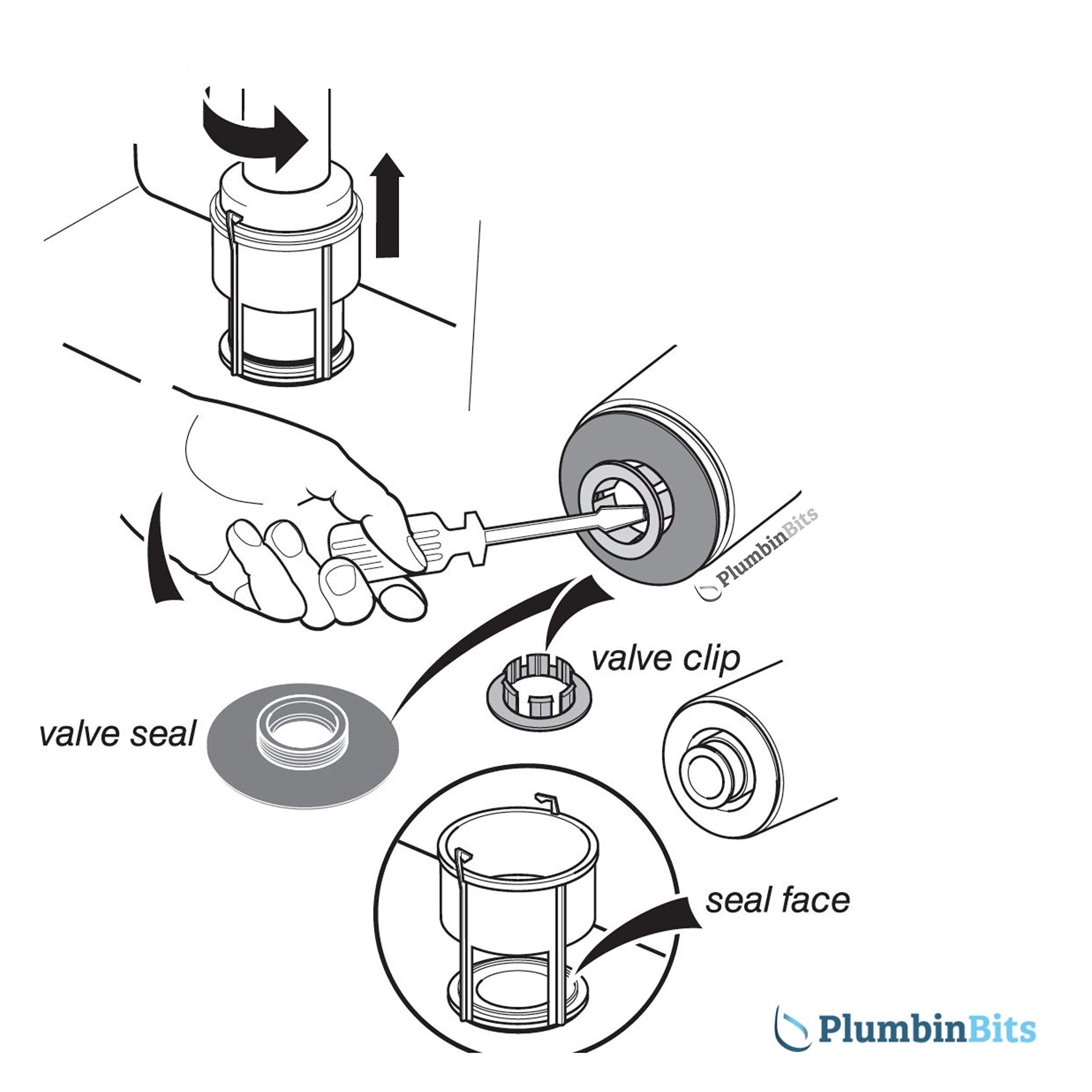 Ideal Standard Genuine SV90167 Inlet valve servicng Kit Uni Quiet