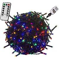 VOLTRONIC® LED Lichterkette für innen und außen, Größenwahl: 50 100 200 400 600 LEDs, warmweiß/kaltweiß/bunt/warmweiß…