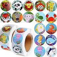 1000PCS Gommette Animaux Autocollants Scrapbooking Stickers d'Étiquette Animaux en Papier Self-Adhesive 2.5cm Label DIY…