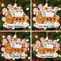 Décoration de Noël personnalisée avec arbre, boule de Noël, Noël | Famille de pain d'épice | Groupes 2, 3, 4, 5 et 6…