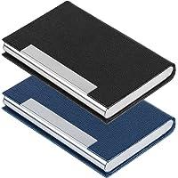 SENHAI - Porta carte di credito in pelle PU e acciaio inox, per uomini e donne, con chiusura magnetica, per tenere le…