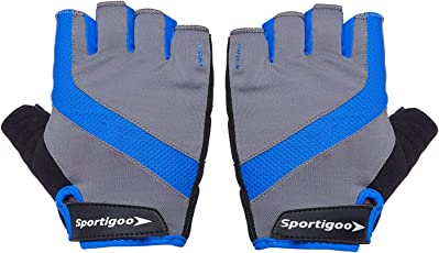 Sportigoo PRO-X Cycling Gloves - Grey/Blue