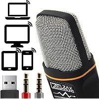 Professional cardioïde Microphone à condensateur Avec trépied pour PC, Ordinateur portable, iPhone, iPad, téléphones Android, tablettes, xBox et YouTube Enregistrement par ZaxSound