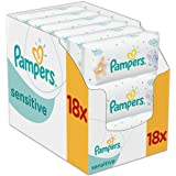 Pampers - Sensitive - Lingettes Bébé - Lot de 18 Paquets de 56 (x1008 lingettes)