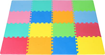 ProSource Puzzle Solid Foam Play Mat for Kids