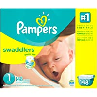 Pampers Swaddlers Newborn Diapers Size 1 148 count