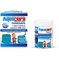 Aquapura Water Purification Tablets, Each Tablet for 500 litres, 50 Tablets Pack, 3 Years Shelf Life & Warranty, for…