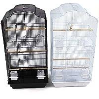 Easipet Large Metal Bird Cage for Budgie, Cockatiel, Lovebirds etc (Black)