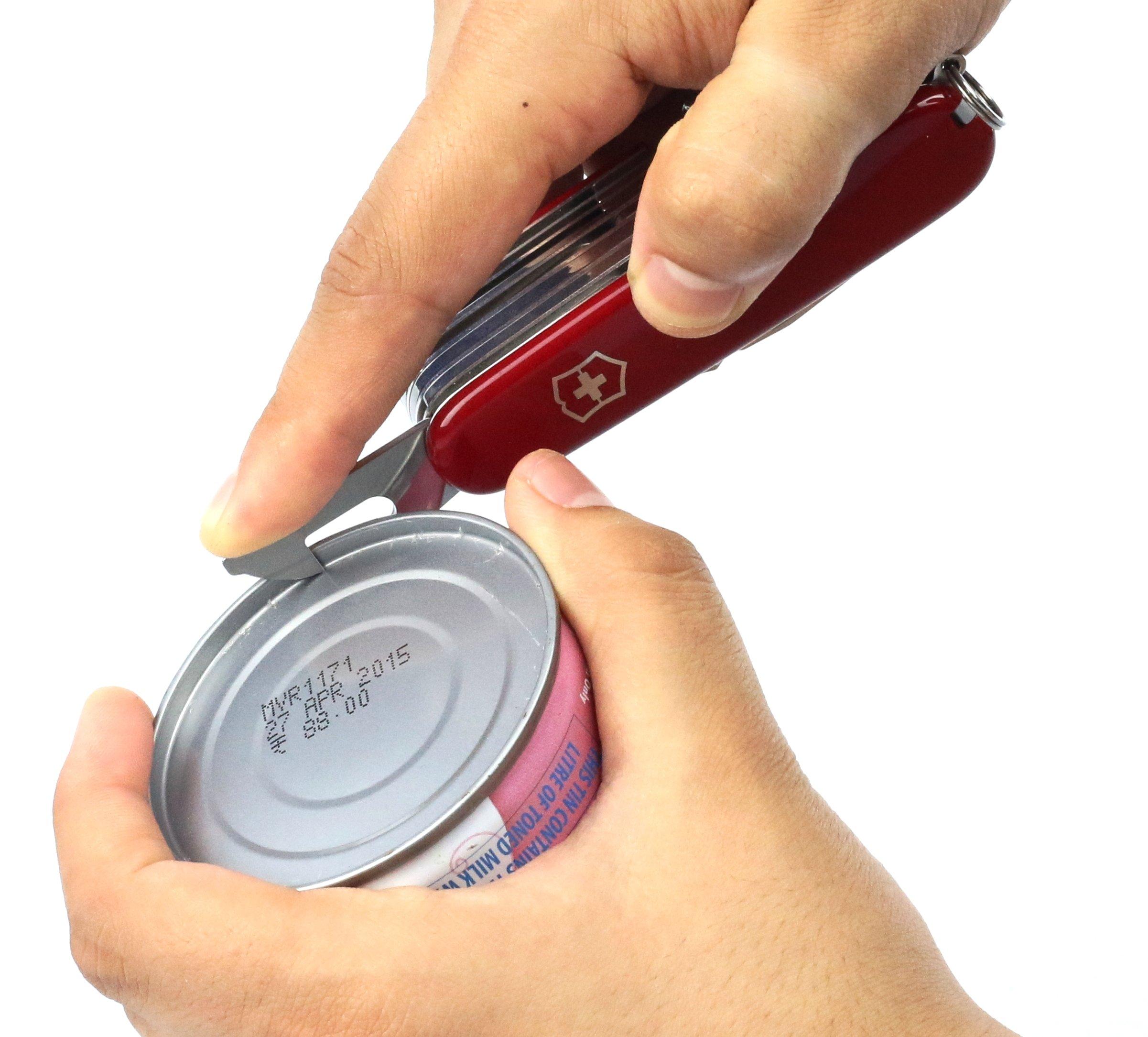 Victorinox Taschenwerkzeug Offiziersmesser Swiss Champ Rot Swisschamp Officer's Knife, Red, 91mm 13