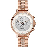 Fossil Charter Hybrid Hr Stainless-Steel Smartwatch White Dial Women's Watch