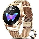 AIMIUVEI Smartwatch Mujer, Reloj Inteligente IP68 con Pulsómetro, Monitor de Sueño, Seguimiento del Menstrual, 9 Modos de Dep