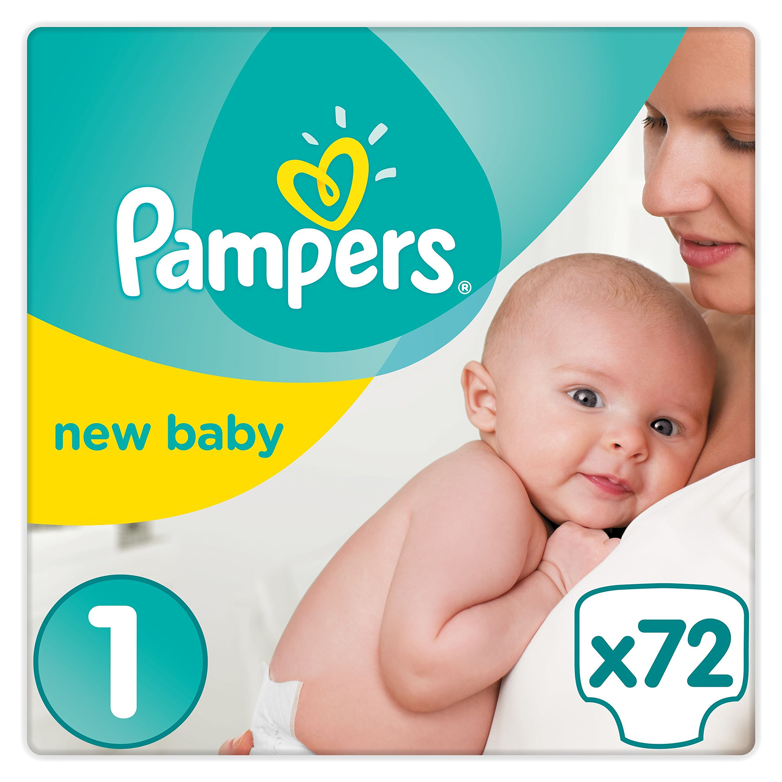 72 windeln pampers premium protection new baby gr e 1. Black Bedroom Furniture Sets. Home Design Ideas