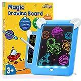 DreamToy Stfitoh Divertido Pizarra Mágica con Luces Led - Regalos Juguetes para Niños - Tableta de Dibujo/Pizarra Luminosa