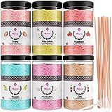 Misskandy, sucre barbe à papa pour machine/ lot de 1,8 kg (6*300g)/ arômes: Fraise, Pina colada, Marshmallow, Framboise, cola