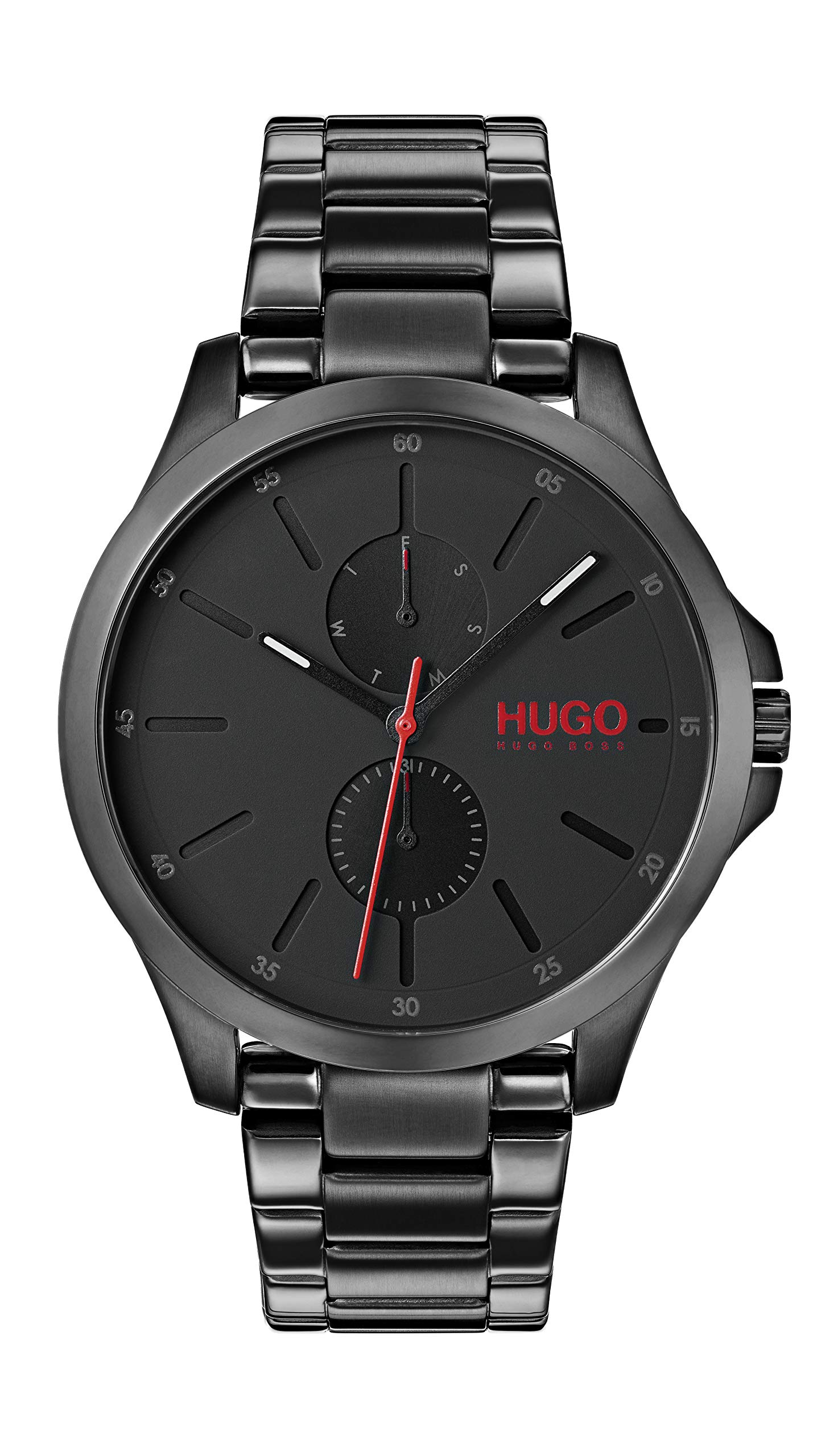 Hugo Mens Multi dial Quartz Watch with Stainless Steel Strap 1530028