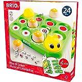 BRIO 30189 Lek och lär Musikalisk larv   Play & Learn Musical Caterpillar 5 delar. Aktivitetsleksak. Från 24 månader. Tränar