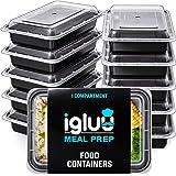 Igluu Meal Prep - [Lot de 10] Boîtes alimentaires rectangulaires pour préparation des repas - Réutilisables, sans BPA - Compa