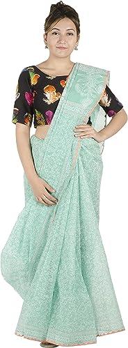 Tribes India Women's Cotton Saree 6 Mtr. : RJTx(Multi-Coloured,(6 Mtrs.))