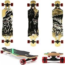 Miganeo Longboard 108x24,5 Long Board Skateboard Surfboard komplett Flex Longboards