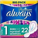 Always Platinum Normal (T1) Serviettes hygiéniques Ailettes22