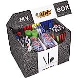 BIC 933953 - Scatola di 124 prodotti, con penne a sfera/portamine/correttori a nastro/pennarelli/evidenziatori