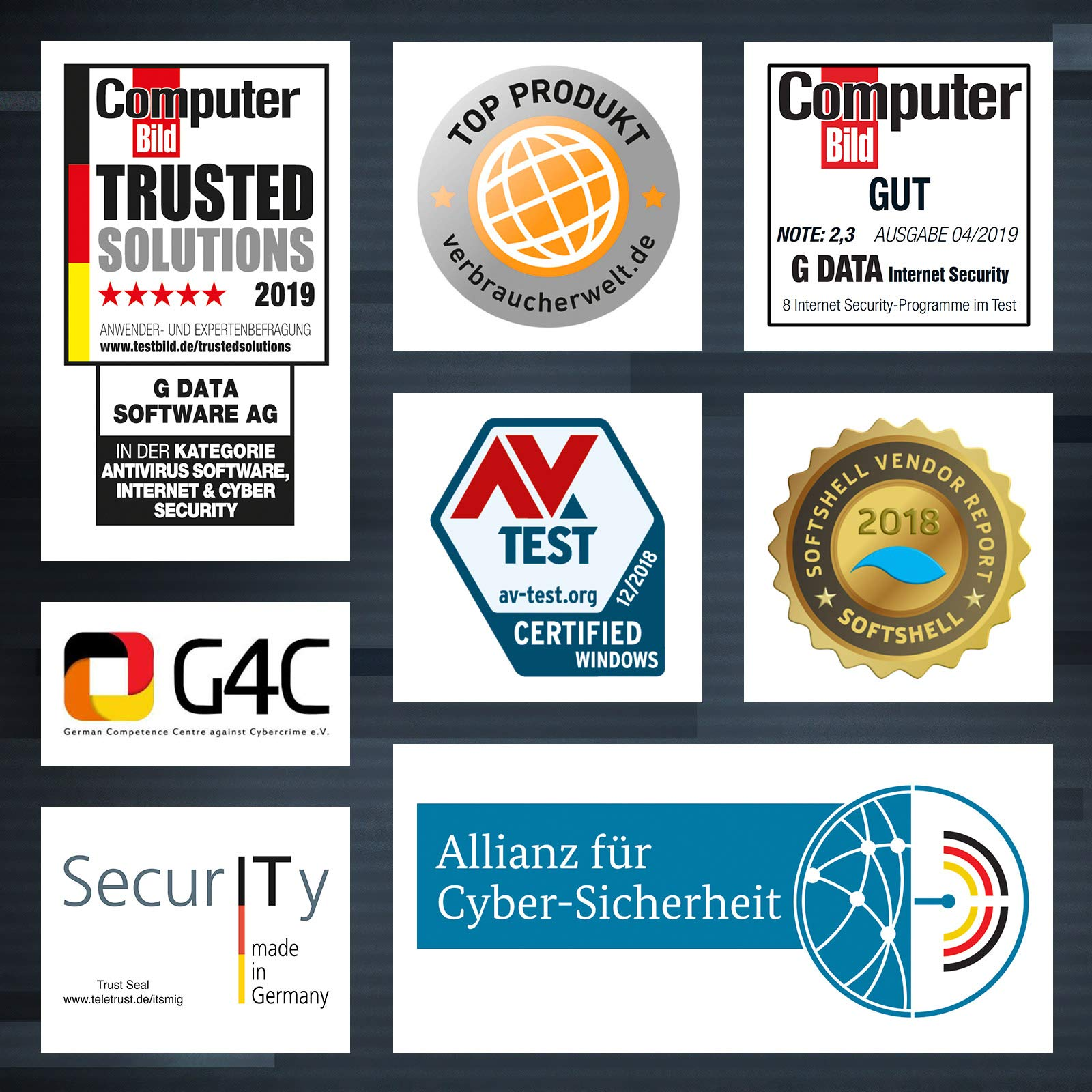 G DATA Internet Security 2019 | Antivirus | 1 Jahr | Windows |Trust in  German Sicherheit