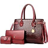 Dhufish Mode Damen Handtasche Set, Große Umhängetasche Für Frauen, Krokodilmuster-Tasche, Einfache kleine umhängetasche damen