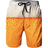 Loveternal Mens Beach Shorts Quick Dry Beach Pants with Pockets Printed Swim Trunks