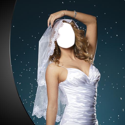 Hochzeitskleid-Foto-Montage