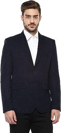 LUXURAZI Single Breasted Partywear Blazer with Designer Microdot Pattern