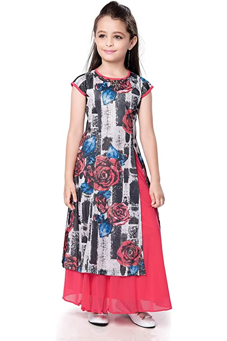Buy Btc Girls Printed Kurti With Leggings Kurti Leggings Set For Girls Kurti For Kids Baby Pink At Amazon In